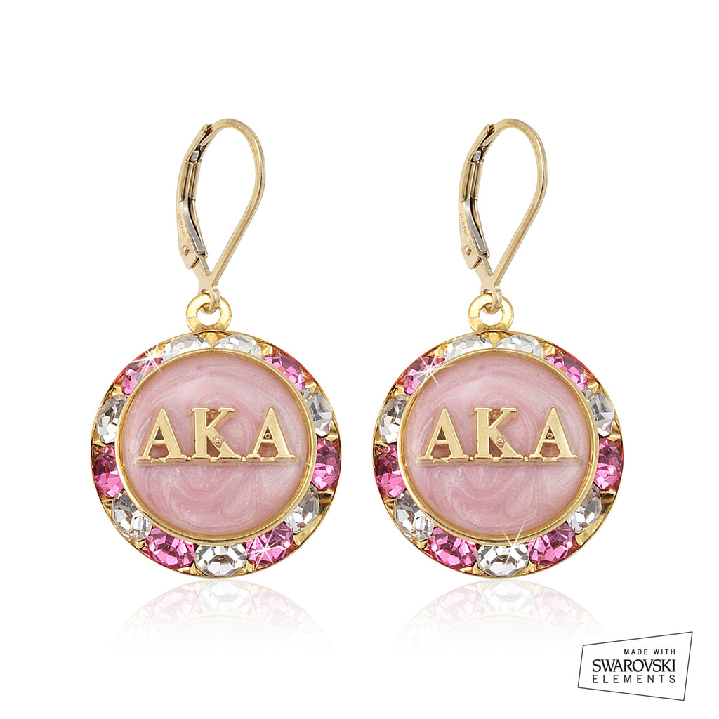 AKA Swarovski® Lustrous Pink Earrings