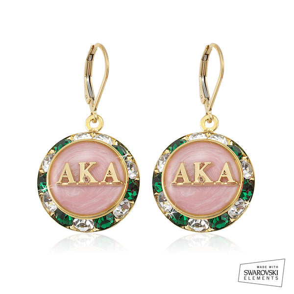 AKA Swarovski® Lustrous Emerald Earrings