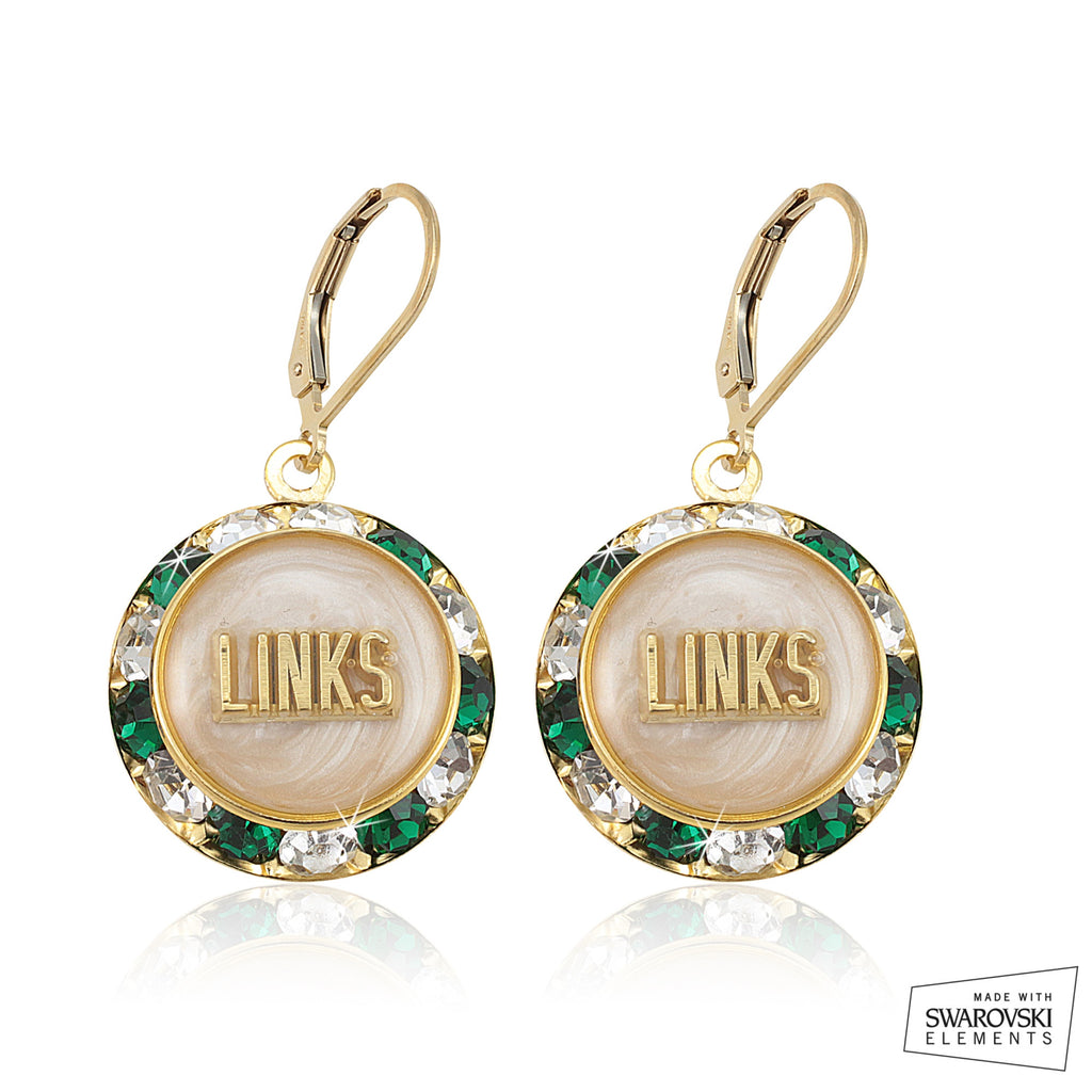 Links Swarovski® Lustrous White Earrings