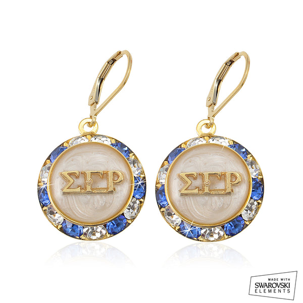 Sigma Gamma Rho Swarovski® Lustrous White Earrings