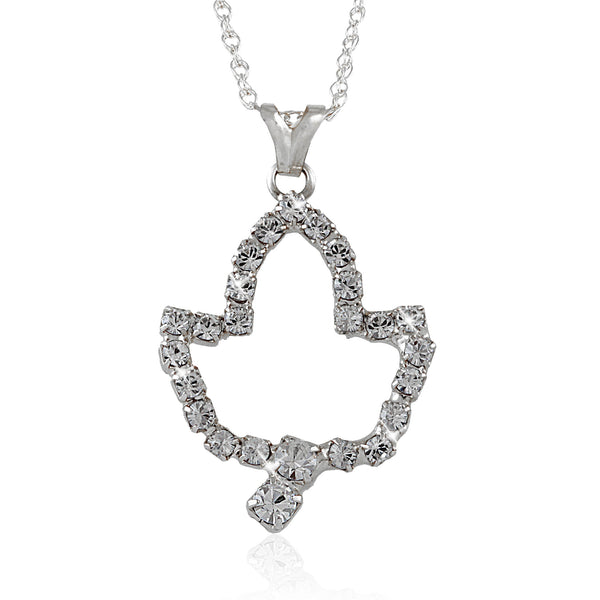 AKA Swarovski® Ivy Leaf Silver Necklace