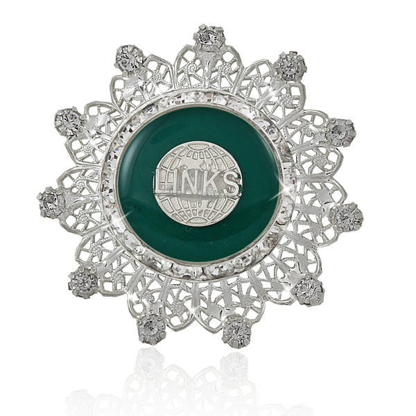 LINKS Swarovski® Floral Edition Pin