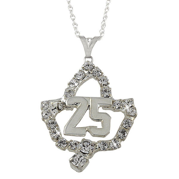 AKA Swarovski® '25' Silver Star Necklace