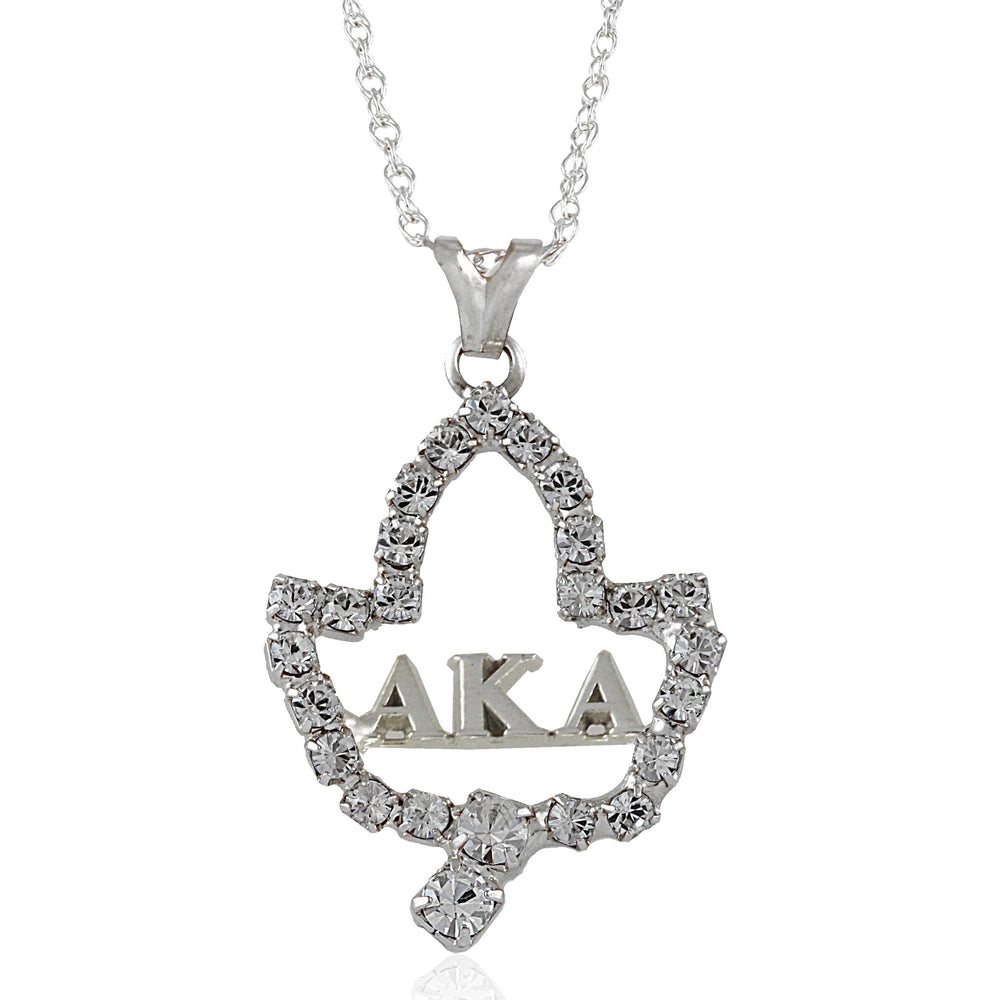 AKA Swarovski® Ivy Leaf Letters Necklace