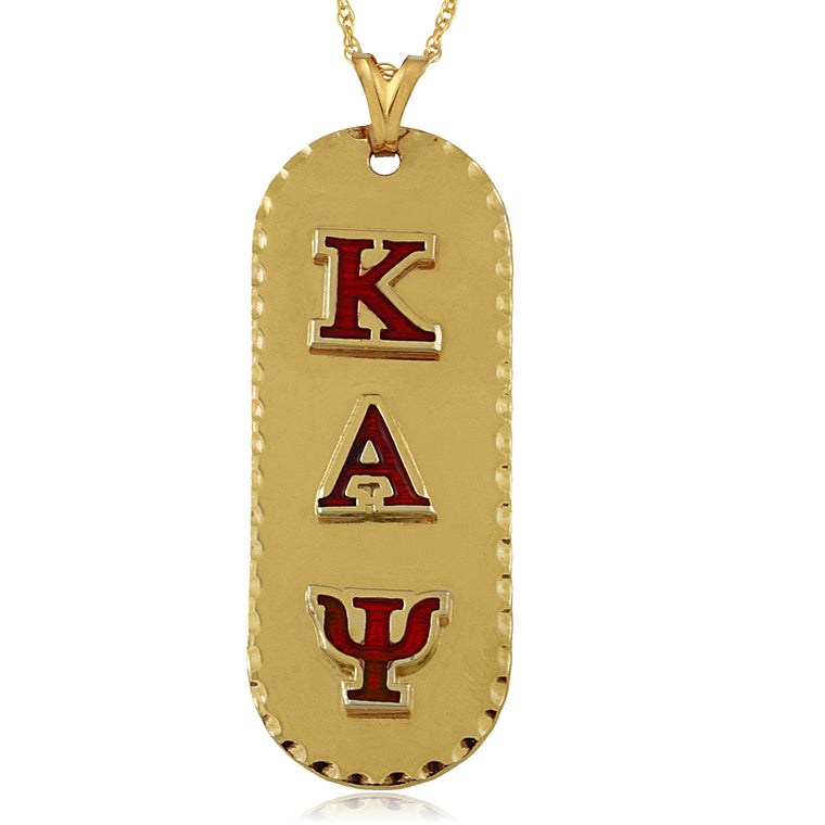 Kappa Swarovski® Gold 'Vertical' Medallion