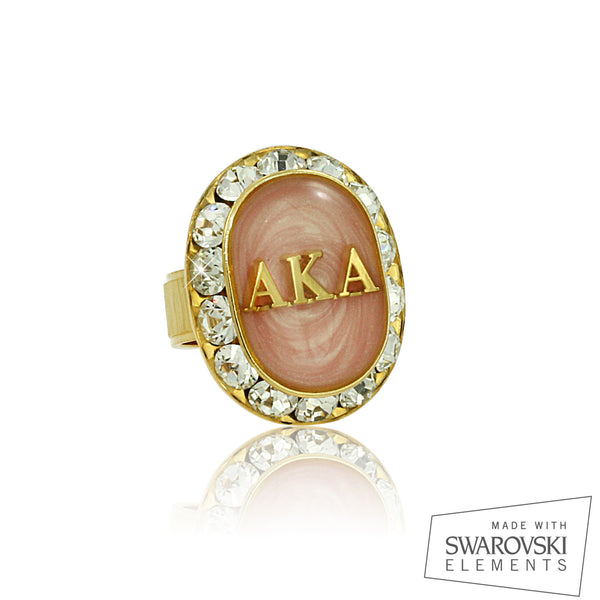 "AKA Swarovski® ""Ethereal"" Pink and Gold Ring"