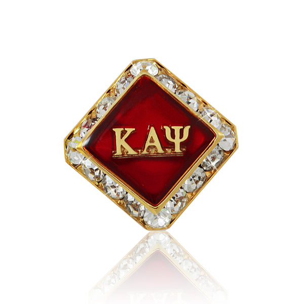 "Kappa Swarovski® Gold ""Diamond"" Lapel Pin"