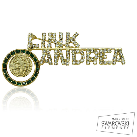 "Links Swarovski® Custom Name ""Perfection"" Pin"
