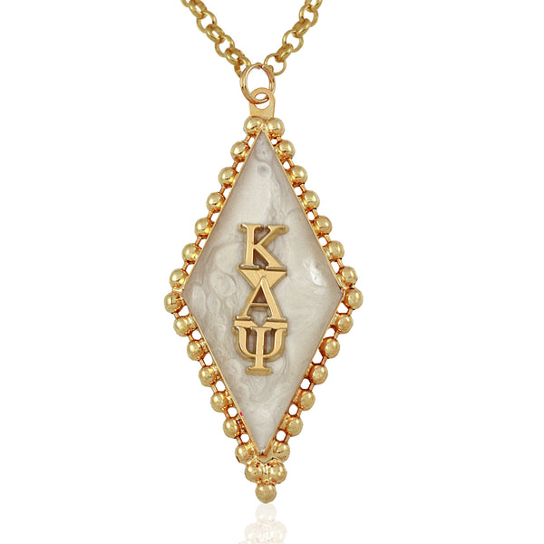 Kappa Swarovski® 'Classic' White and Gold Medallion