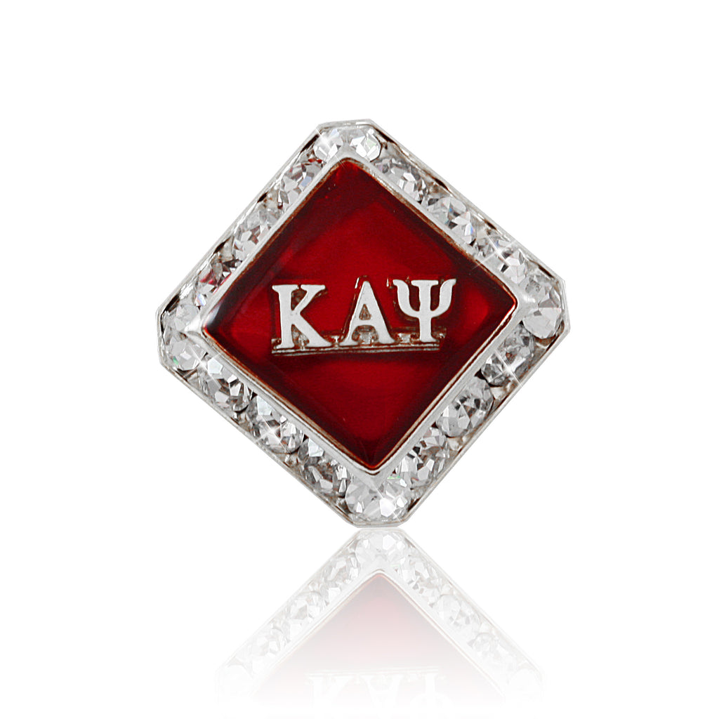 "Kappa Swarovski® Silver ""Diamond"" Lapel Pin"