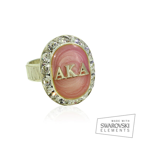 "AKA Swarovski® ""Ethereal"" Pink and Silver Ring"