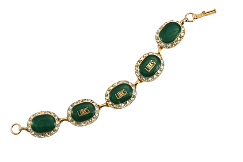 LINKS Swarovski® Emerald Gold Crystal Bracelet