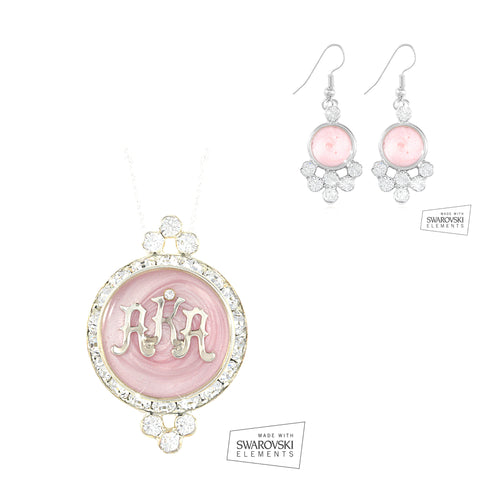 "Alpha Kappa Alpha Swarovski® ""Crystal Nights"" Set in Silver *Limited Edition*"