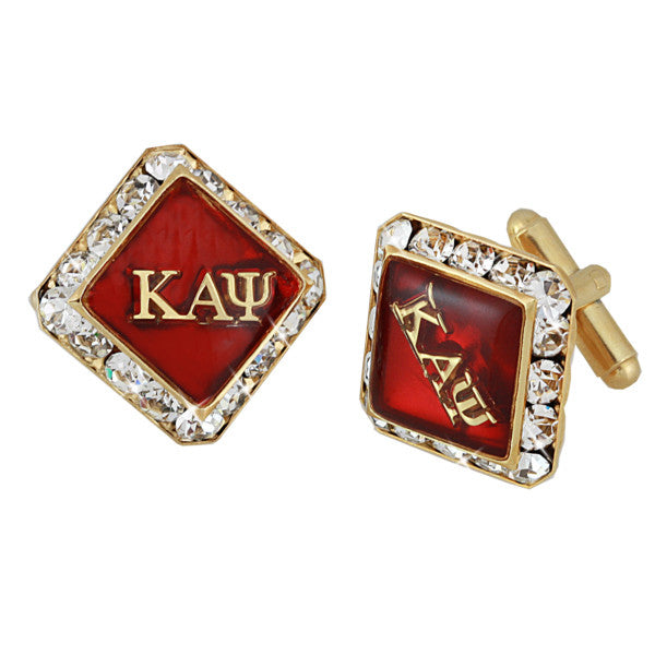 Kappa Swarovski® 'Grand Crimson' Gold Cufflinks