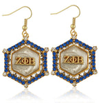 Zeta Marbella Gold Crystal White Earrings