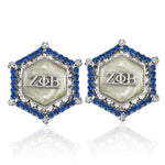 Zeta Marbella Silver Crystal White Earrings