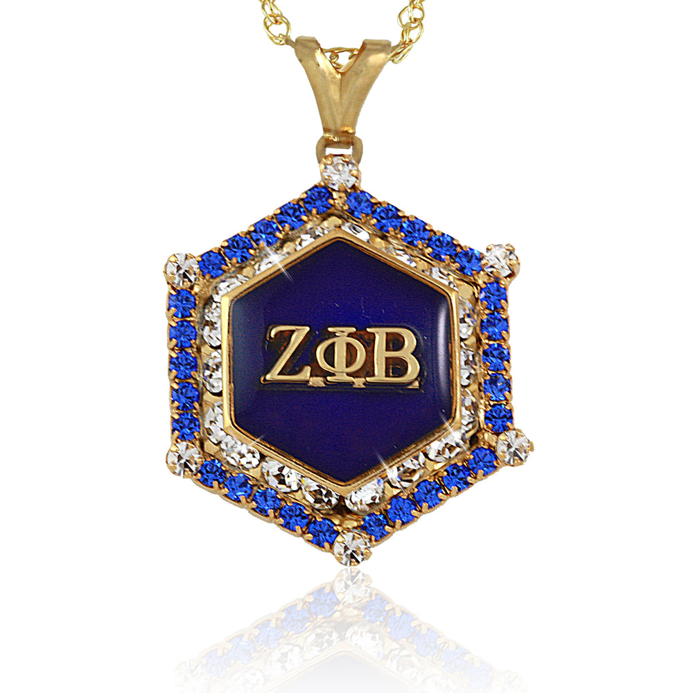 Zeta Marbella Gold Crystal Necklace