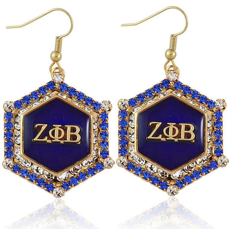 Zeta Marbella Gold Crystal Earrings