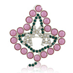 "AKA Swarovski® Pink Pearls ""Luminous"" Ivy Pin"