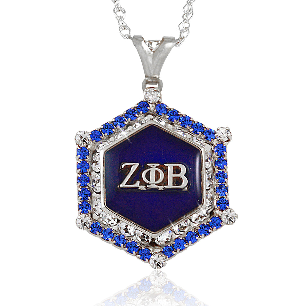 Zeta Marbella Silver Crystal Necklace