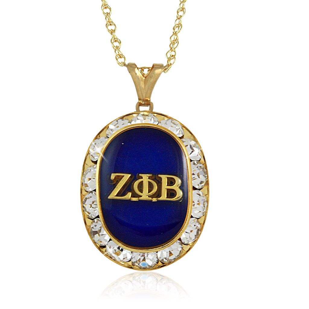 Zeta Swarovski® Oval Gold Crystal Necklace