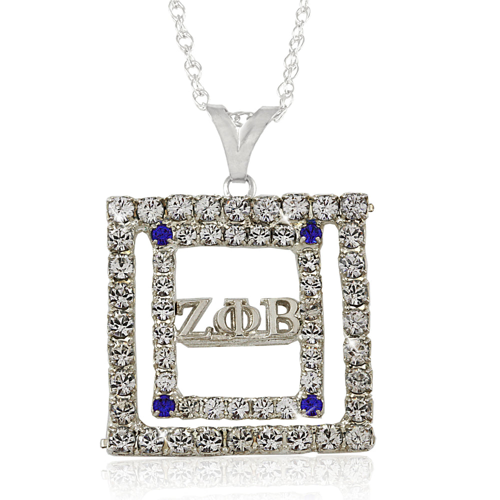 Zeta Crystal Cubic Necklace