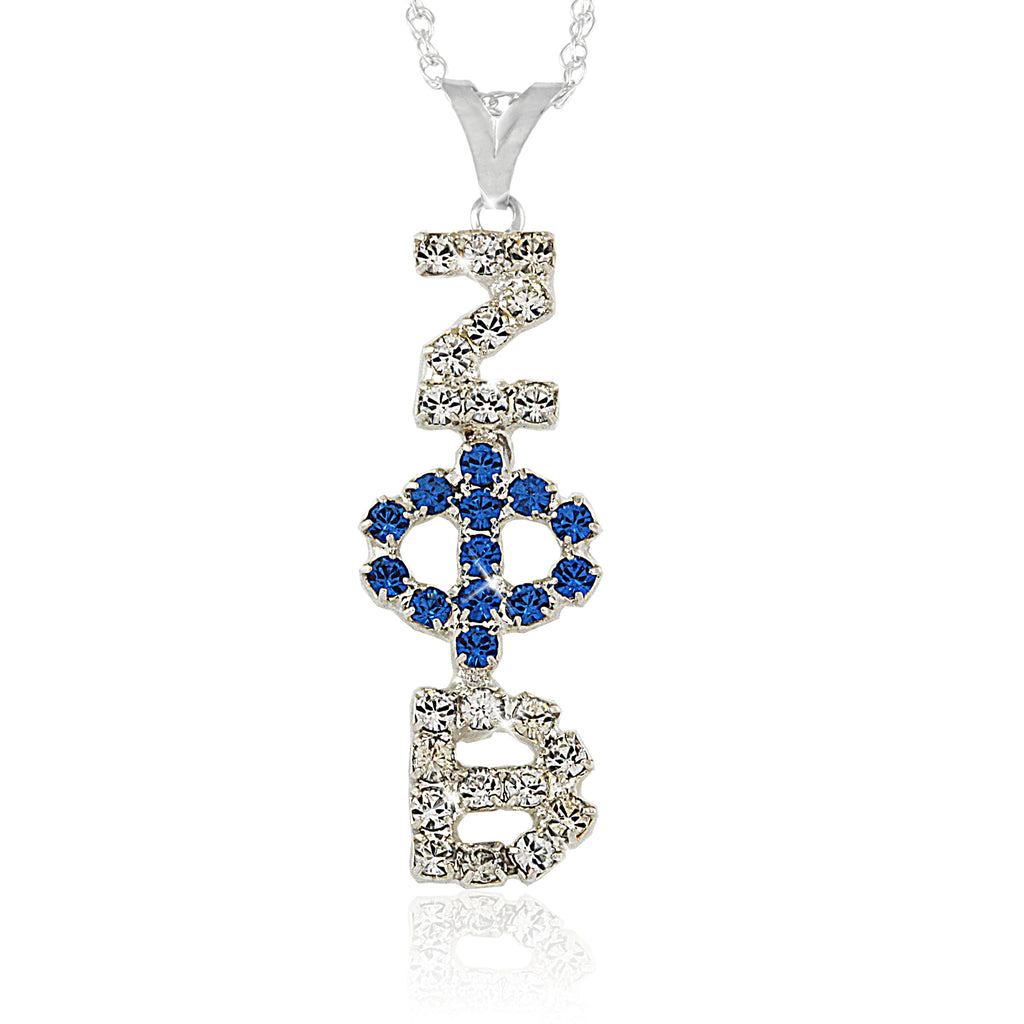 Zeta Symbolic Crystal Necklace