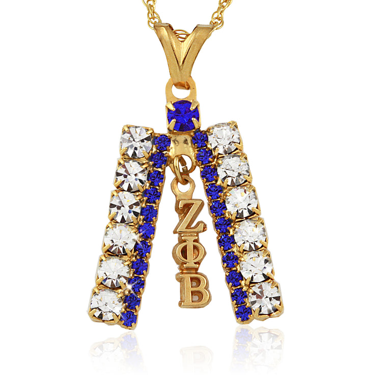 Zeta Crystal Gold Studded Necklace