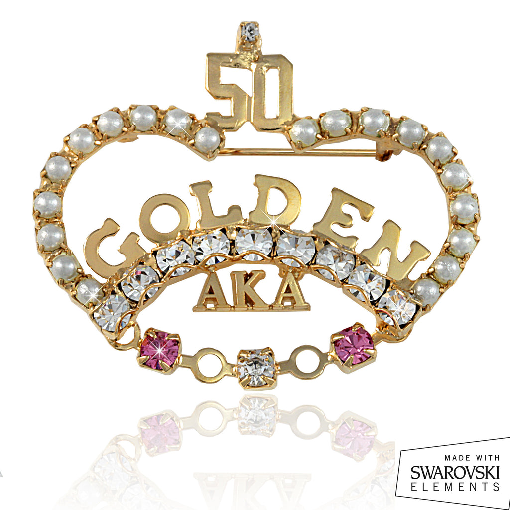 "AKA Swarovski® Golden ""CROWN"" 50 Pin"