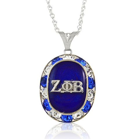 Zeta Oval Perfection Crystal Necklace
