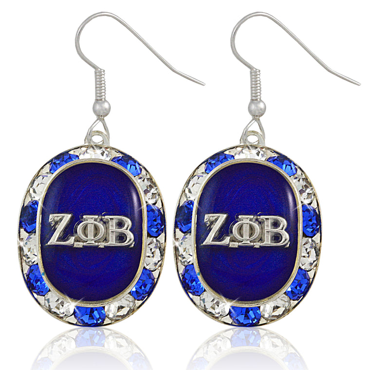 Zeta Oval Perfection Crystal Earrings
