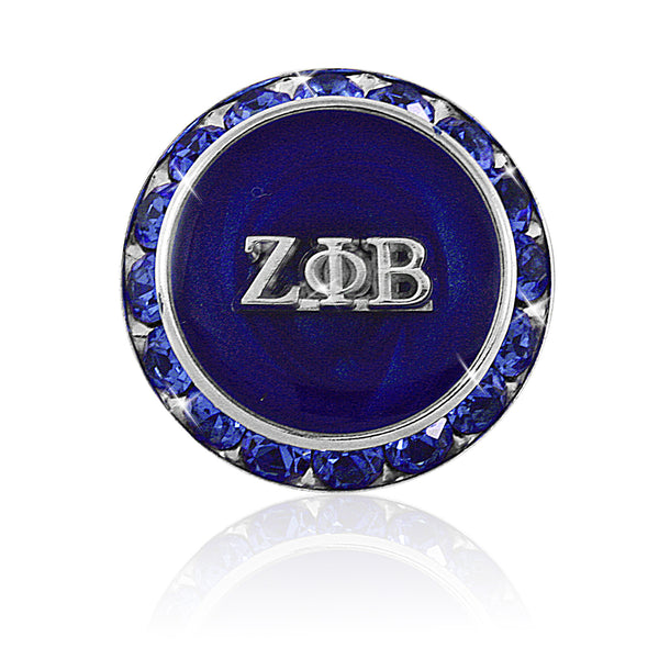 "Zeta Crystal ""Purity Blue"" Pin"