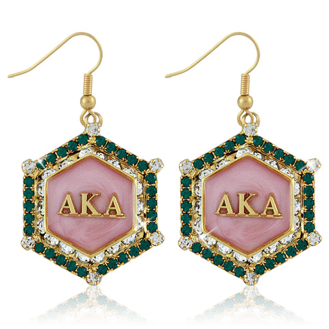 "AKA Swarovski® ""Emerald Essence"" Marbella Gold Earrings"