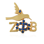 Zeta Crystal Elegance Mini Dove Pin