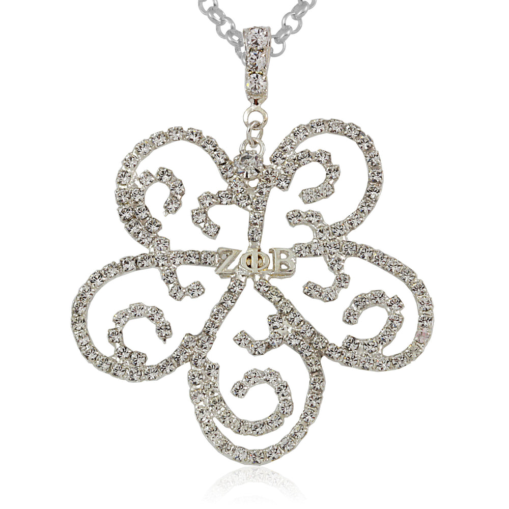 Zeta Ornate Crystal Necklace