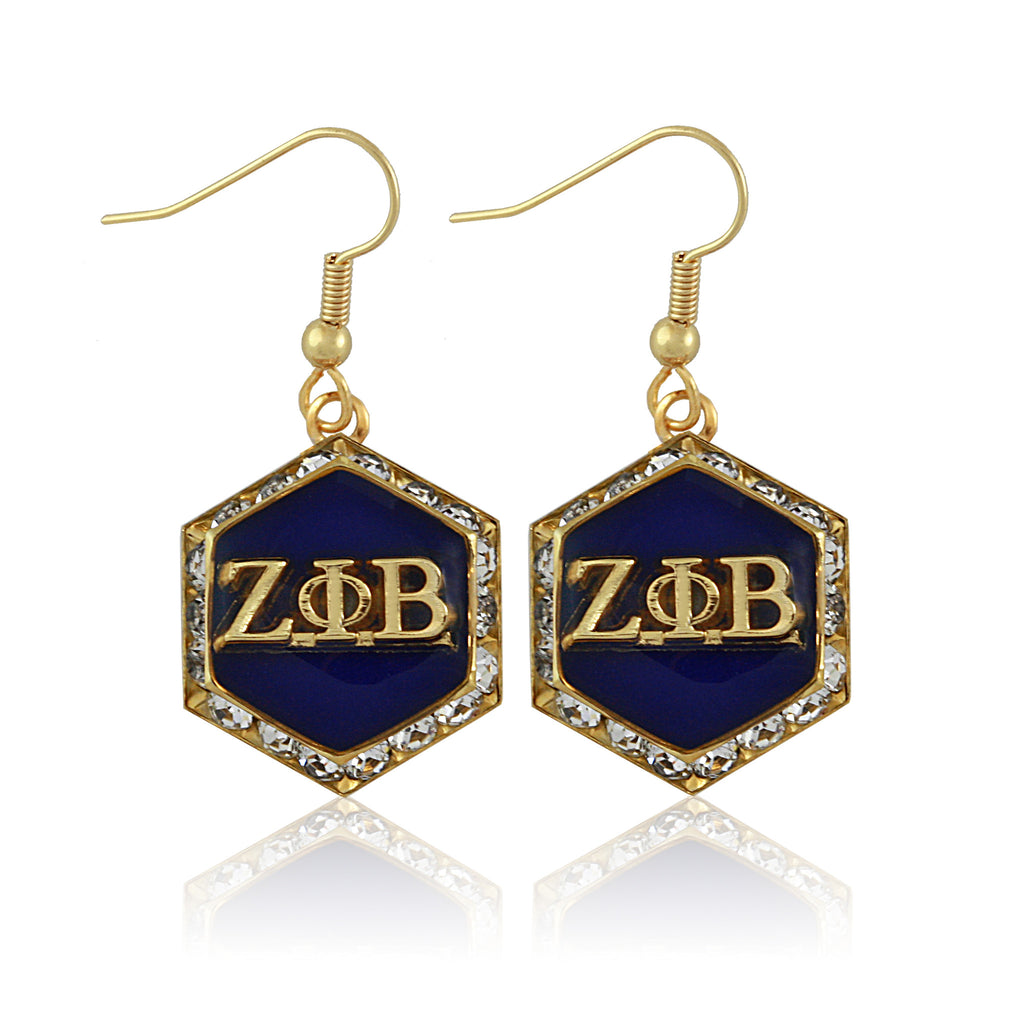 Zeta Gold Starbella Crystal Earrings