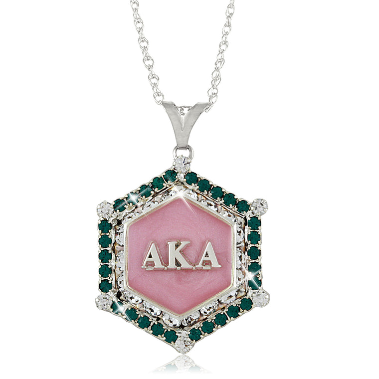 AKA Swarovski® Emerald and Pink Marbella Necklace