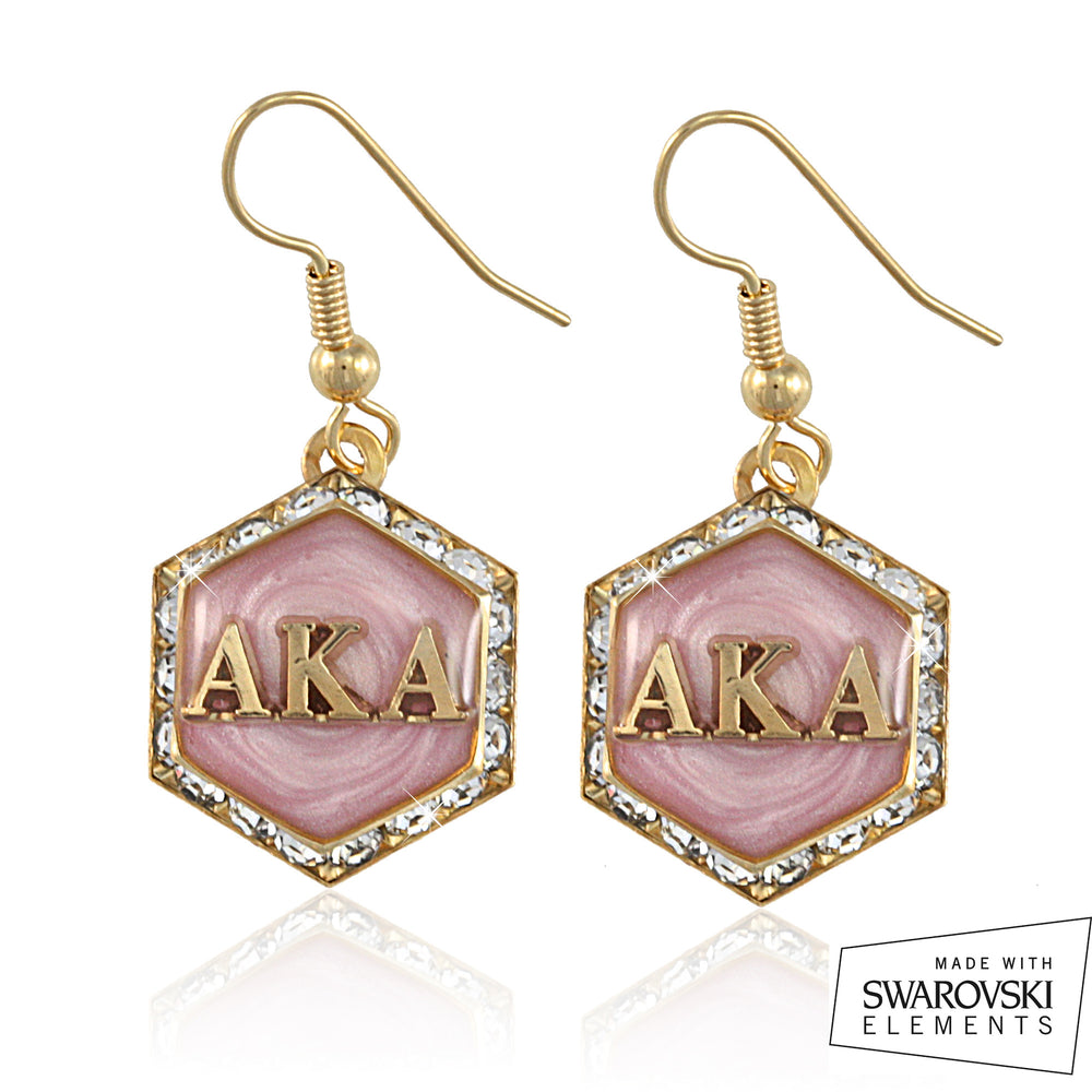 AKA Swarovski® Pink Starbella Earrings
