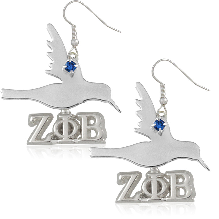 Zeta Dove Crystal Earrings