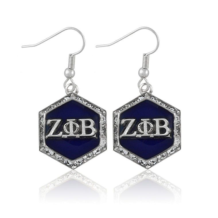 Zeta Silver Starbella Crystal Earrings