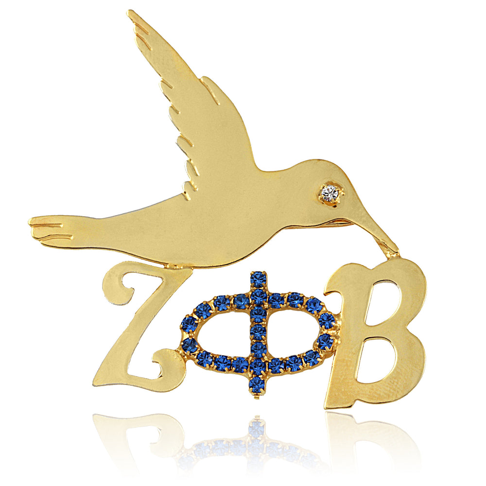 Zeta Crystal Elegance Dove Pin