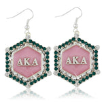 "AKA Swarovski® ""Emerald Essence"" Marbella Silver Earrings"