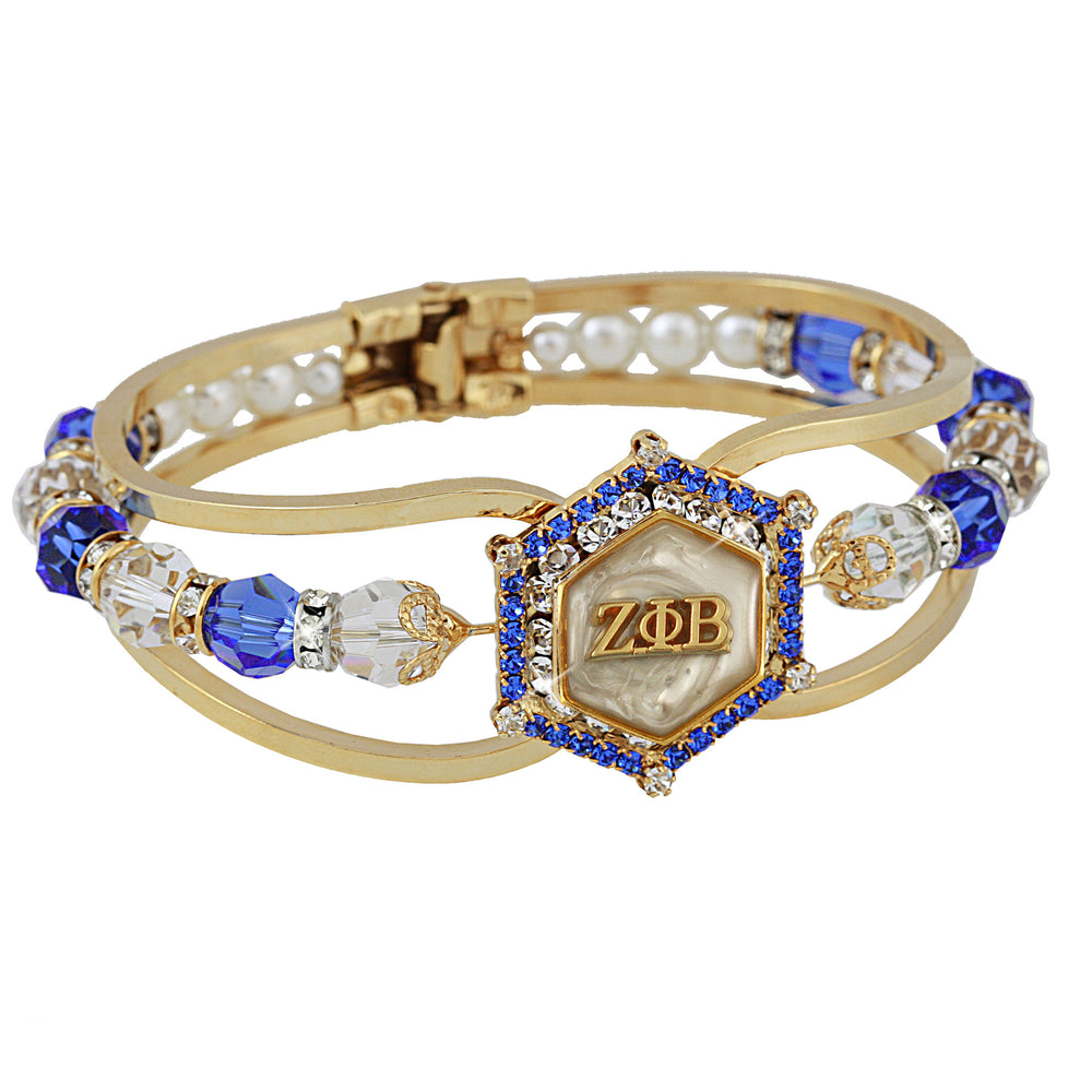 Zeta Crystal Marbella Gold and White Bracelet