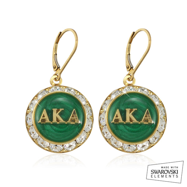 "AKA Swarovski® ""Emerald Stellar"" Earrings"