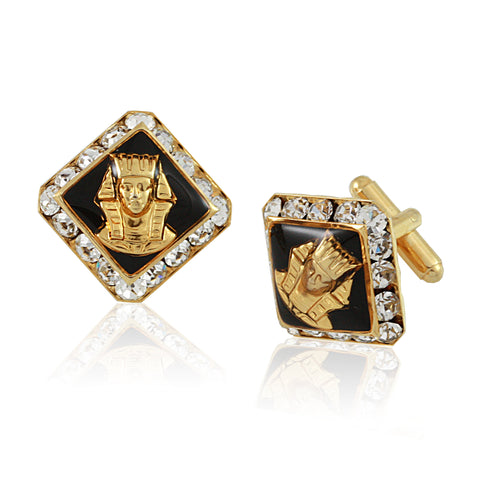 "Alpha Phi Alpha Swarovski®  Commemorative ""Sphinx"" Cufflinks"