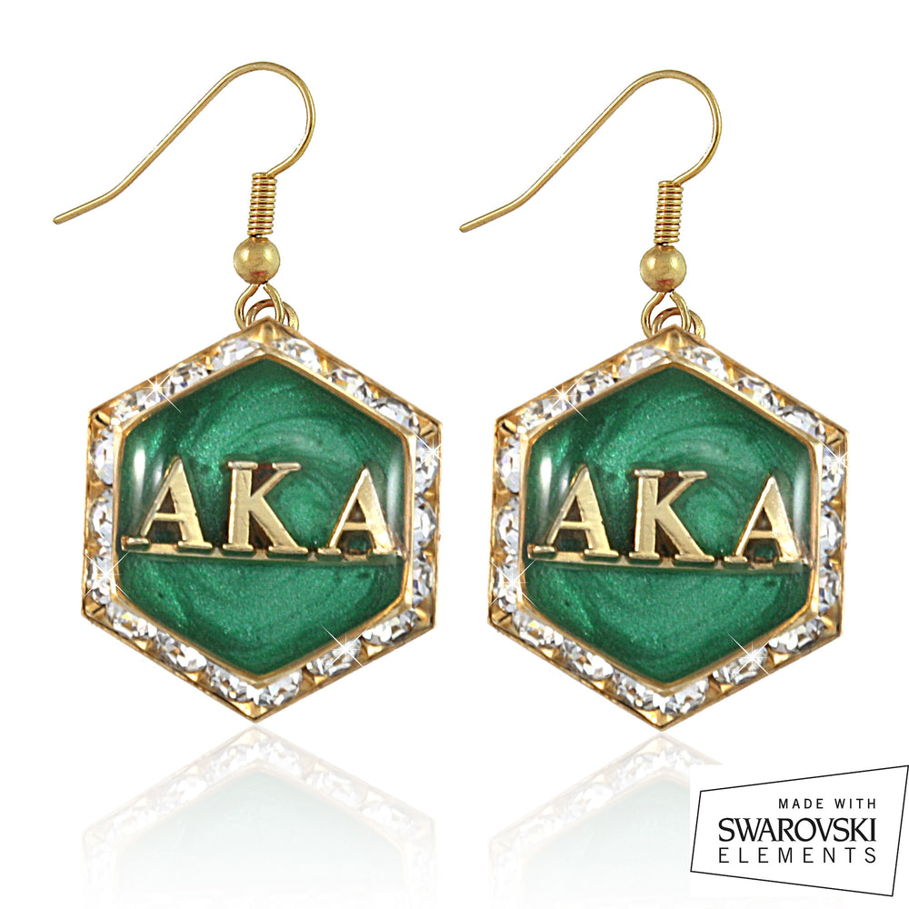 AKA Swarovski® Emerald Starbella Earrings
