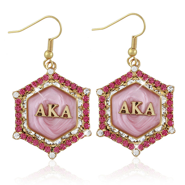 "AKA Swarovski® ""Pretty in Pink"" Marbella Gold Earrings"