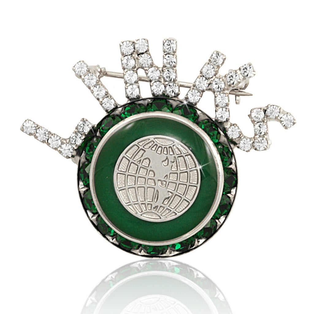 "Links, Inc. Swarovski® ""Exquisite"" Emerald and Silver Pin"