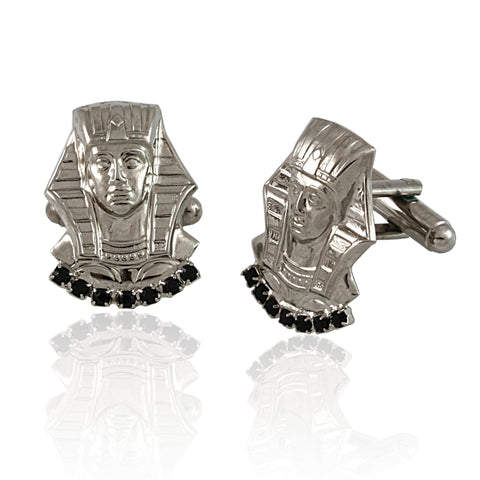 "Alpha Phi Alpha Swarovski® Commemorative Silver ""King's"" Cufflinks"