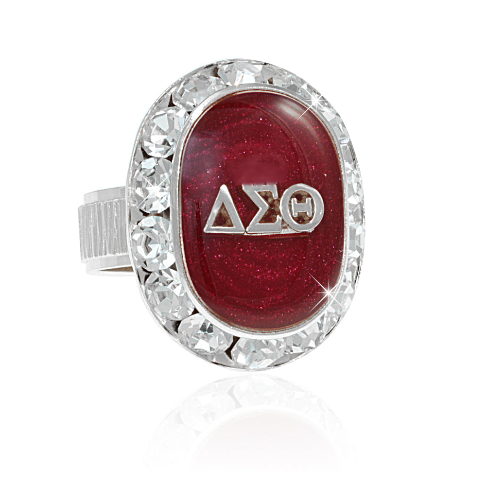 "DST Swarovski® ""Opulent""  Red and Silver Custom Fitted Ring"